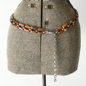Accessories - TORTOISE SHELL Chain Style Hip Belt
